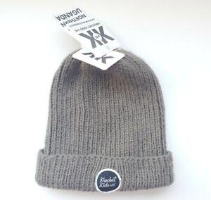 """Krochet Kids International WATCHMAN Olive Rust Knit  Beanie Hat Unisex """"NEW"""""""