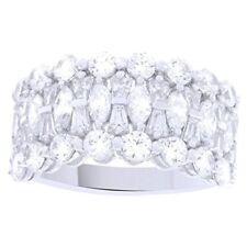 EPIPHANY Platinum Clad Diamonique Multi-stone Band Ring 7