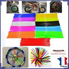 COUVRE RAYON ORANGE FLUO MOTO CROSS MX ENDURO ROUE JANTE A RAYON COVER MARQUE