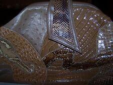 Vintage Palizzio Snake Skin Clutch Purse