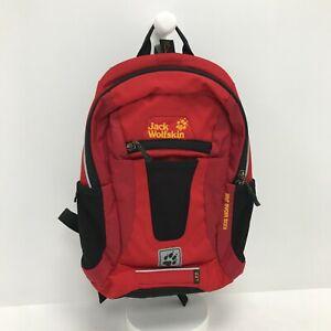 Jack Wolfskin Backpack Kids' Unisex Red Outdoor Casual Rucksack Bag 171290