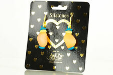 NEW AnUNe- For You Silstones Earrings No 103, 1 Pair, Silicone Jewelry, women