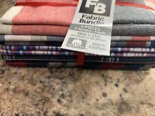 "5 Fat Quarters 100% Cotton Quilt Fabric Bundle 18""x 21 Each Plaid Checker Buffal"