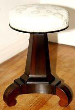 Piano stool, vanity bench, Classical Empire, rosewood, c1830