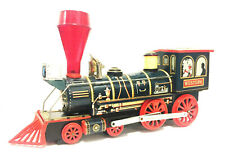 Very Rare Vintage Battery Operated Giant Western Locomotive Tin Train Excellent