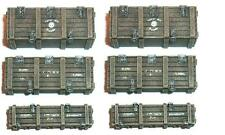Artmaster 6 Piece Boxes Packing Set - Highly Detailed Resin Model 1:72