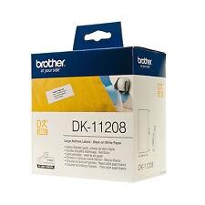 ORIGINALI 400 ETICHETTE BROTHER DK-11208 38X90 PER P-Touch QL560 QL710W QL720NW