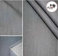 "Medium Premium weight Washed, Denim 100% Cotton Fabric Material High Quality 58"""