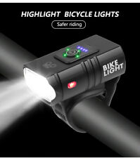 LED Bike Headlight USB Rechargeable Bicycle Front Flashlight Bike Accessories