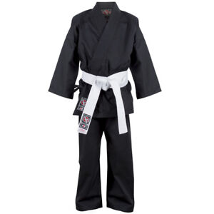 Hayabusa Musha Youth Karate Gi - Black - kimono taekwondo kids
