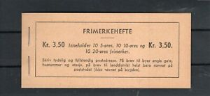 Norway MNH booklet - F-VF - Norgeskatalogen  FH- 20 II A  (Scott 196c)