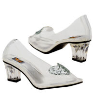 Womens Ariel Clear Heel Slippers Costume Accessory