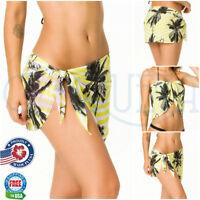 Coqueta Swimsuit Cover Up Wrap FASHION Sarong Chiffon MIAMIYELLOW Pareo Swimsuit