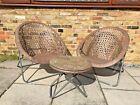 Garden Furniture Rattan Lounger 3 Piece Set 2 Chairs + 1 Table Folding Garden