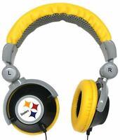Pittsburgh Steelers NFL Licensed iHip DJ Style Noise Isolating Headphones