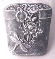 Dragonfly planter plaque mold plaster cement garden casting wall pot decor mould