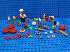 LEGO CHEF SET ~ Minifigure & Food Dish Pie Apple Pizza Bread Pretzel Cookie NEW