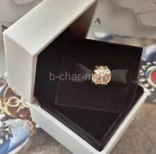 PANDORA | GENUINE 14ct Yellow Gold Sparkling Bloom Charm / Bead: 750826CZ