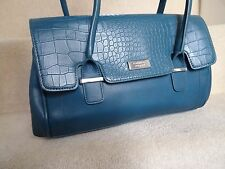 FIORELLI BLUE TEAL IMITATION LEATHER SHOULDER BAG TOTE BAG NEW