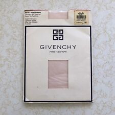 Vintage 80s Givenchy Body Gleamers Raspberry Sheer Nylon Pantyhose Small Size a