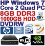 Windows 7 HP 8000 Core 2 Quad Gaming PC Computer - 8GB DDR3 - 1000GB HDD - HDMI