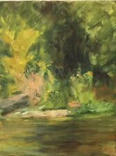SPRING CREEK # 1  pristine brook oil painting by Margaret Aycock Oklahoma