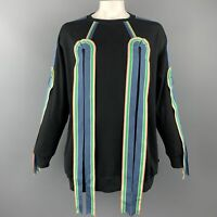 WALTER VAN BEIRENDONCK S Navy Ribbon Trim Cotton Sweatshirt