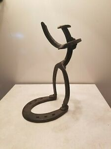 Handmade Cowboy Horseshoe Metal Welded Western Art Sculptures bin 30
