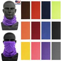 US Bandana Head Face Mask Neck Gaiter Snood Headwear Beanie Tube Scarf Unisex
