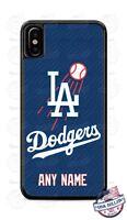 LA Dodgers Baseball Tread Logo Phone Case Cover Fits iPhone Samsung LG etc NAME