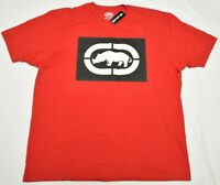 Ecko Unltd T-Shirt Men's Rhino Box Logo Graphic Tee Red Urban Streetwear Q202
