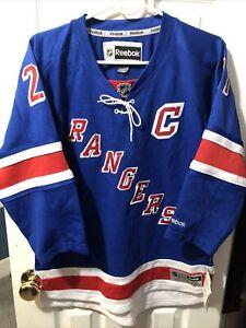 Ryan McDonagh New York Rangers Reebok Blue Youth Captains Jersey Size L/XL