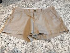 OLD NAVY Womens Size 2 Tan Beige Low Rise Chino Shorts Cotton Blend Summer. E2