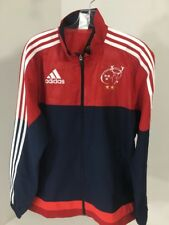 ADIDAS MEN'S MUNSTER RUGBY CLUB JACKET RED//NAVY/CORAL NWT