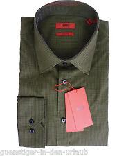 HUGO BOSS Herren Langarm Hemd Freizeithemd Businesshemd grün XL NEU