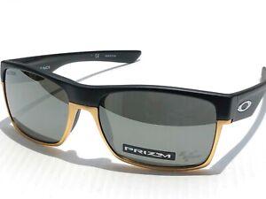 Oakley TWO FACE Black Matte Gold PRIZM VR46 Black Iridium Sunglass 9189