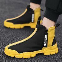 Men's Casual Shoes Sneakers Breathable Leisure Sports Fashion High Top Outdoor