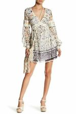 NWT FREE PEOPLE Cherry Blossom Mini Dress Ivory $168 Size 6 Lace Anthropologie