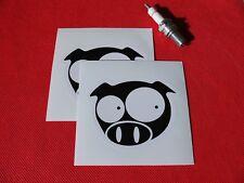 Pair of  Subaru Rally Pig stickers