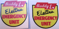 Buddy L electical emergency uint water slide decal set