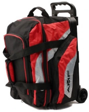 AMF 2 Ball Double Roller Black Grey Red Bowling Bag