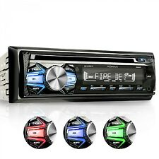 RADIO DE COCHE AUTORRADIO CON LECTOR CD BLUETOOTH MANOS LIBRES USB SD MP3 1DIN