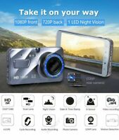 "XGODY Dual Lens 4"" Car DVR 1080P FHD Dash Cam Video Night Recorder Camera V L0L4"