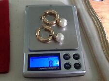 South Sea 9 Carat Yellow Gold Fine Pearl Earrings