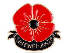 Enamel Remembrance Red Poppy Flower Lapel Pin Brooch Metal Broach Badge Banquet