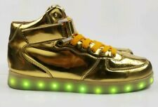 Odema Unisex LED Shoes High Top Light Up Sneakers for Girls Boys Size 40, US 7.