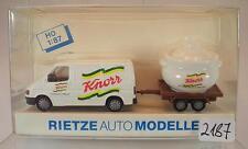 Rietze 1/87 80161 Ford Transit Kasten mit Anhänger Knorr OVP #2187