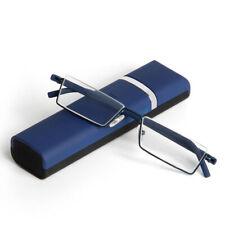 +2.5 Strength Reading Glasses Fashion Eyeglasses Half-Rim Metal Frame Eye Reader