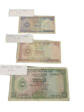 CEYLON 2 RUPEES P56 57 59 1959 LION PAVILION Vg Price For All 3 Notes