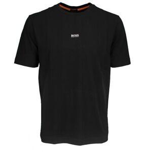 HUGO Boss Logo T-Shirt schwarz unifarben TChup 50418749 001 schwarz